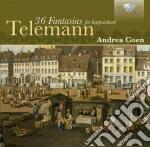36 fantasies for harpsichord cd musicale di Telemann georg phili