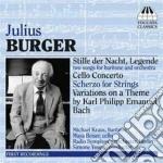 Burger Julius - Concerto Per Violoncello, 2 Liriche Per Baritono E Orchestra, Scherzo Per Archi cd musicale di Julius Burger