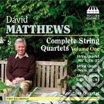 Quartetti per archi, vol.1 cd musicale di David Matthews