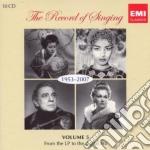 The record of singing: 1953-2007 cd musicale di Artisti Vari