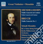 Bruch - Perlman Itzhak - Masters: Bruch & Mendelssohn Violin Concertos cd musicale di Itzhak Perlman