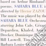 Hector Zazou - Sahara Blue cd musicale di ZAZOU HECTOR