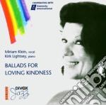 Miriam Klein - Ballade For Loving Kindne cd musicale di Klein & lightsey