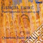 Fauré Gabriel - Quartetteo X Pf E Archi N.1 Op.15, N.2 Op.45 cd musicale di Gabriel Faure'