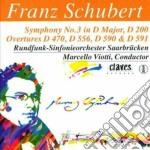 Schubert Franz - Sinfonia N.3 D 200, Ouverture D 470, D 556, Ouvertures Nello Stile Italiano D 59 cd musicale di Franz Schubert