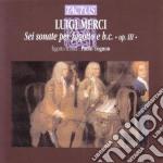 Palo Tognon - 6 Sonate Per Fagotto E Basso Continuo cd musicale di Luigi Merci