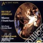 Miserere/5 duetti sacri -pozzer, ciampi cd musicale di Jommelli