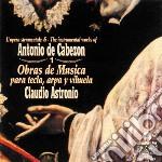 Antonio De Cabezon - Obras De Musica Para Tecla Arpa Y Vihuel cd musicale di CABEZON ANTONIO DE
