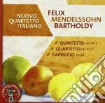 Mendelssohn Felix - Quartetto Per Archi N.1, N.3 Op.44  Capriccio Op.81 cd musicale di Felix Mendelssohn