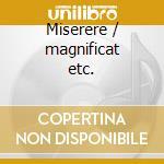 Miserere / magnificat etc. cd musicale di Durante / scarlatti