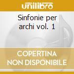 Sinfonie per archi vol. 1 cd musicale di Durante