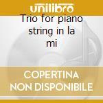 Trio for piano string in la mi cd musicale di Tchaikovsky
