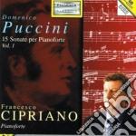 15 SONATE PER PIANOFORTE (VOL.1) cd musicale di PUCCINI DOMENICO VIN