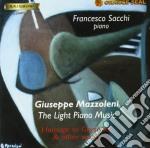 Mazzoleni Giuseppe - The Light Piano Music: Omaggio A Gershwin & Other Works  - Sacchi Francesco  Pf cd musicale di Giuseppe Mazzoleni