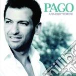 ARIA DI SETTEMBRE cd musicale di PAGO