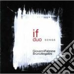 Giovanni Falzone / Bruno Angelini - Songs cd musicale di Falzone/bru Giovanni