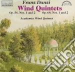 Danzi Franz - Quintetto X Fiati N.1 E 2 Op.56, N.1 E 2 Op.68  - Academia Wind Quintet  /j.marsalek Fl, O.trnka Oboe, P.donek Clar, F.pok Corno, J.jand cd musicale di Franz Danzi