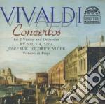 Vivaldi Antonio - Concerto X 2 Vl,orchestra E Basso Continuo Rv 509, Rv 514, Rv 522, Rv 523, Rv 52 /oldrich Vlcek Vl, Virtuosi Di Praga cd musicale di Antonio Vivaldi