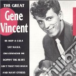 Gene Vincent - The Great cd musicale di Gene Vincent