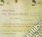 Die orchesterlieder (integrale dei liede cd musicale di Richard Strauss