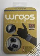 BB Auricolare Wraps Wristband Denim Blu game acc