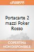 Portacarte 2 mazzi Poker Rosso giochi