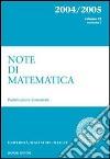 Note di matematica. Vol. 23 libro