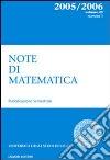 Note di matematica. Vol. 25/1 libro