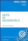 Note di matematica. Vol. 25/2 libro
