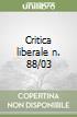 Critica liberale n. 88/03 libro