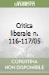 Critica liberale n. 116-117/05 libro