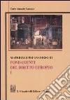 Materiali per un corso di fondamenti del diritto europeo (1) libro