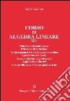 Corso di algebra lineare libro