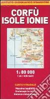 Corfù, Isole Ionie 1:80.000 libro