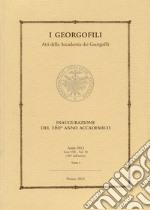 I Georgofili. Atti della Accademia dei Georgofili. Vol. 10/1 libro