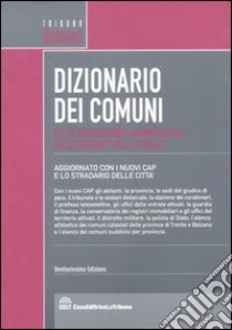 Dizionario dei comuni, delle circostrizioni amministrative, delle frazioni e delle località libro