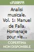 Analisi musicale. Vol. 1: Manuel de Falla, Homenaje pour «le tombeau» de Claude Debussy libro