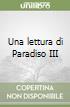 Una lettura di Paradiso III libro