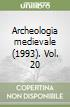 Archeologia medievale (1993). Vol. 20 libro