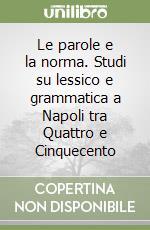 Le parole e la norma. Studi su lessico e grammatica a Napoli tra Quattro e Cinquecento libro di Montanile Milena
