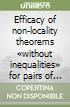 Efficacy of non-locality theorems «without inequalities» for pairs of spin - 1/2 particles libro