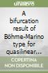 A bifurcation result of Böhme-Marino type for quasilinear elliptic equations libro