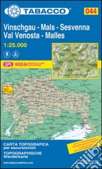 Val Venosta. Sesvenna-Vinschgau. Sesvenna 1:25.000 libro
