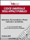Codice universale degli appalti pubblici libro