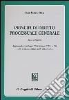 Principi di diritto processuale generale libro