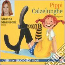 Pippi Calzelunghe letto da Marina Massironi. Audiolibro. CD Audio formato MP3  di Lindgren Astrid