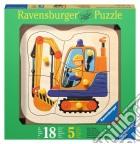 Baby puzzle in legno 5 pz - scavatrice gialla puzzle