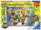 Ravensburger 07597 - Puzzle 2x12 Pz - Teenage Mutant Ninja Turtles - Le Tartarughe Ninja In Azione puzzle
