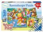 Puzzle 3x49 Pz - Winnie The Pooh - A Pesca puzzle