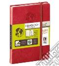 Taccuino equology a righe 10x15 rosso ciliegia scrittura